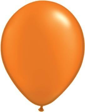 "11"" Pearl Mandarin Orange Qualatex Latex Balloon Uninflated"