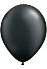 "11"" Pearl Onyx Black Qualatex Latex Balloon Uninflated"