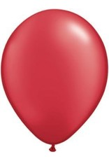 """11"""" Pearl Ruby Red Qualatex Latex Balloon Uninflated"""