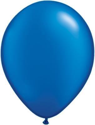 "11"" Pearl Sapphire Blue Qualatex Latex Balloon Uninflated"