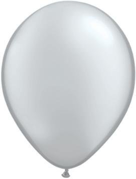 "11"" Silver Metallic Qualatex Latex Balloon Uninflated"