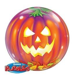 "Jack-O-Lantern Halloween 22"" Bubble Balloon"