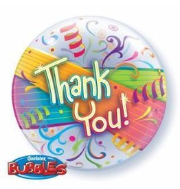 "Thank You Streamers 22"" Bubble Balloon"