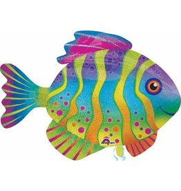 "Colourful Fish Supershape 33"" Mylar Balloon"
