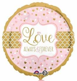 """Always & Forever 18"""" Mylar Balloon"""