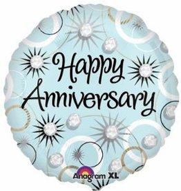 """Anniversary Diamond 18"""" Mylar Balloon"""