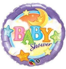 """Baby Moon & Stars 18"""" Mylar Balloon"""