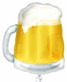 Beer Mug Mylar Balloon