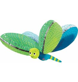 "Cute Dragonfly Supershape 40"" Mylar Balloon"