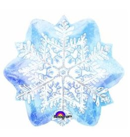 "Let It Snow Flake 18"" Mylar Balloon"