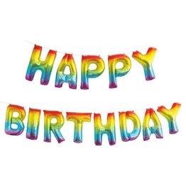 Rainbow Happy Birthday Balloon Banner