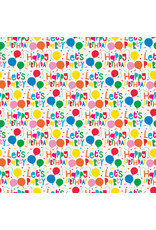 Colourful Balloon Lets Party Wrapping Paper
