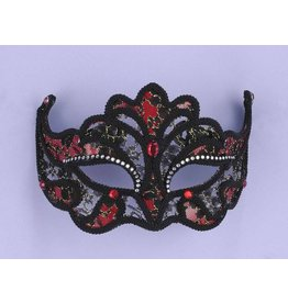 Black & Red Lace Mask