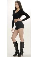 Black Hot Shorts Large (12-14)