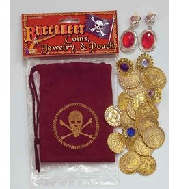 Pirate Coin Pouch with Jewellery
