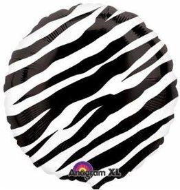 "Zebra 18"" Mylar Balloon"