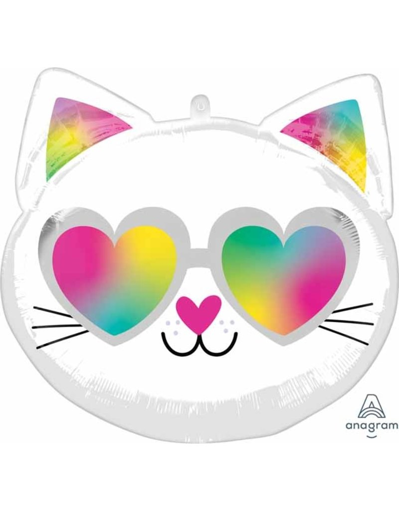 "Cool Kitty 18"" Mylar Balloon"