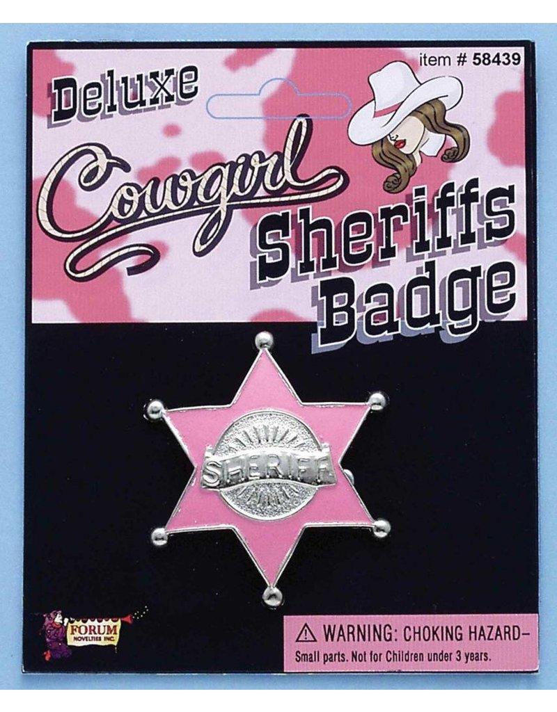 Cowgirl Sheriff Badge