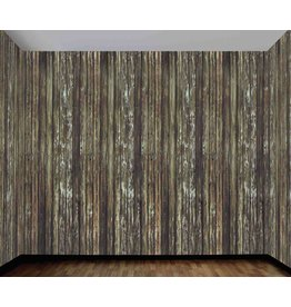 "Haunted House Rotted Wood Wall 47""x20"""