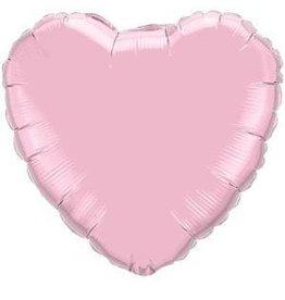 """Pearl Pink Heart 18"""" Mylar Balloon"""
