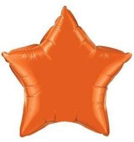 "Orange Star 20"" Mylar Balloon"