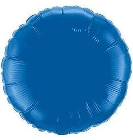 Dark Blue Round 18'' Mylar Balloon