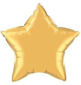 "Metallic Gold Star 20"" Mylar Balloon"