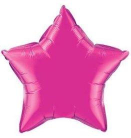 "Magenta Star 20"" Mylar Balloon"