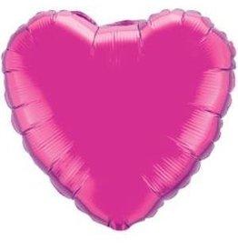 "Magenta Heart 18"" Mylar Balloon"