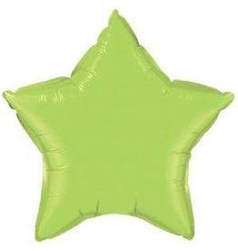 """Lime Green Star 20"""" Mylar Balloon"""