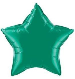 "Emerald Green Star 20"" Mylar Balloon"