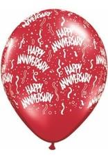 """11"""" Jewel Assortment Anniversary Around Balloon Uninflated"""