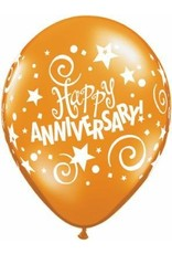 "11"" Fantasy Anniversary Stars Balloon Uninflated"