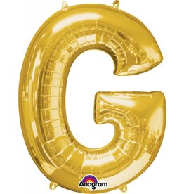 Gold Letter G Mylar Balloon