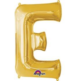Gold Letter E Mylar Balloon