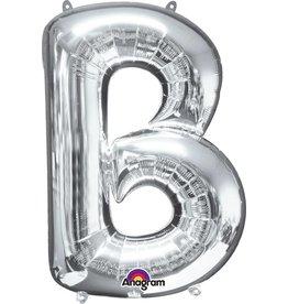 Silver Letter B Mylar Balloon