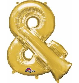 Gold Letter & Mylar Balloon