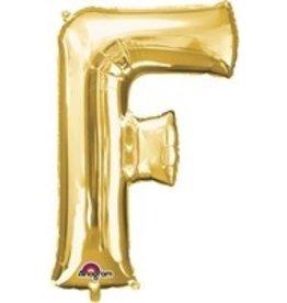 Gold Letter F Mylar Balloon