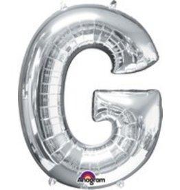 Silver Letter G Mylar Balloon
