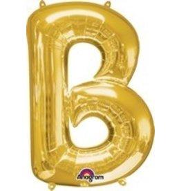 Gold Letter B Mylar Balloon