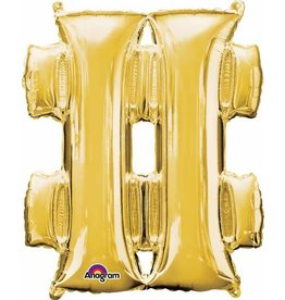 Gold Shape # Mylar Balloon