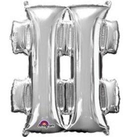 Silver # Mylar Balloon