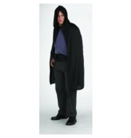 "45"" Black Hooded Cape"