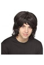 70's Shag Black Wig