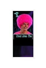 Afro Neon Pink Wig