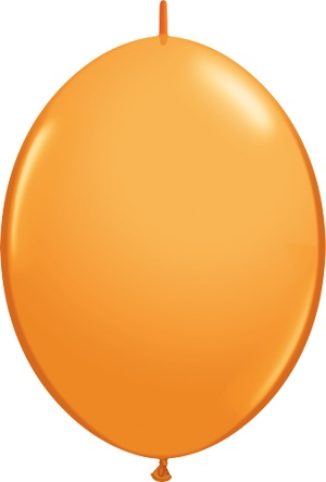 "12"" Orange Quick Link Balloons 1 Dozen Flat"