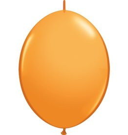 "12"" Orange Quick Link Balloons 1 Dozen Flat"