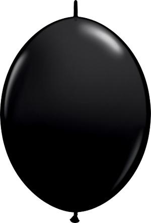 """12"""" Onyx Black Quick Link Balloons 1 Dozen Flat"""