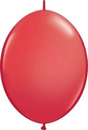 "12"" Red Quick Link Balloons 1 Dozen Flat"