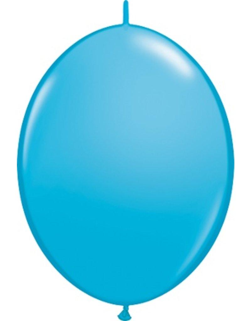 "12"" Robin's Egg Blue Quick Link Balloons 1 Dozen Flat"